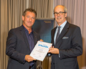 05.11.2014 Daniel Lüthi receives a certificate of thanks for his committed work