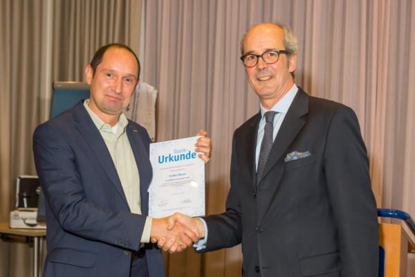 05.11.2014 Steffen Bauer erhält die FSK-Dankesurkunde