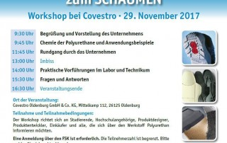 Polyurethan Einsteiger-Workshop bei Covestro Oldenburg