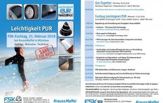 Programm und Anmeldung - Fachtag Leichtigkeit PUR am 21.02.2018 bei KraussMaffei in München