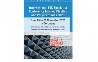 Save the Date - International FSK Specialist Conference Foamed Plastics and Polyurethanes 2020